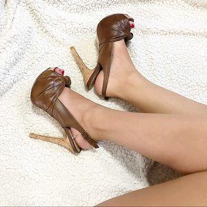Aldo Platform Peep Toe Heels